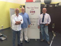 Da destra: Claudio Rossi, Presidente Provinciale Csen di Reggio Emilia, il Dottor Roberto Citarella Direttore Sanitario del C.T.R. e Giovanni Moccia, Direttore Didattico della New Life School